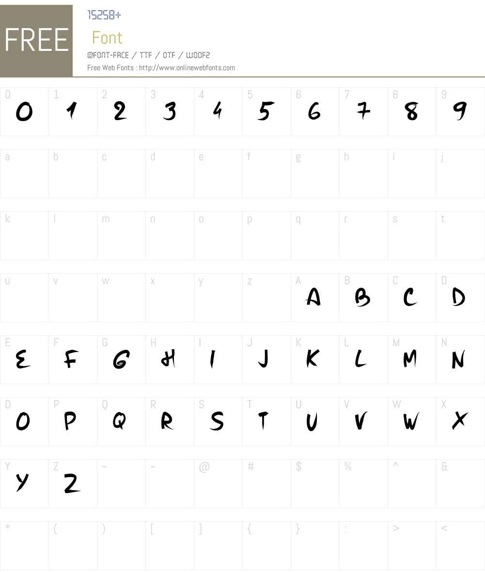 PW Brush Me Font Screenshots