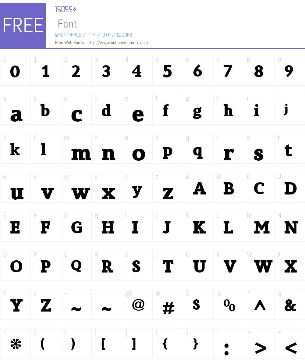 CrystalW01-Bold Font Screenshots