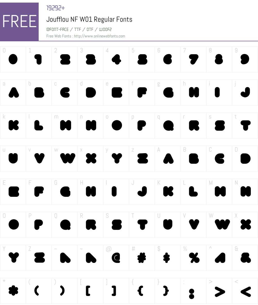 JoufflouNFW01-Regular Font Screenshots