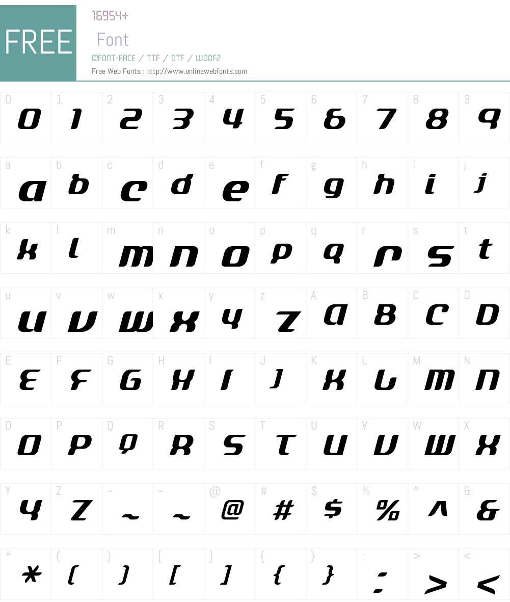 ACRYLIC2081 Font Screenshots