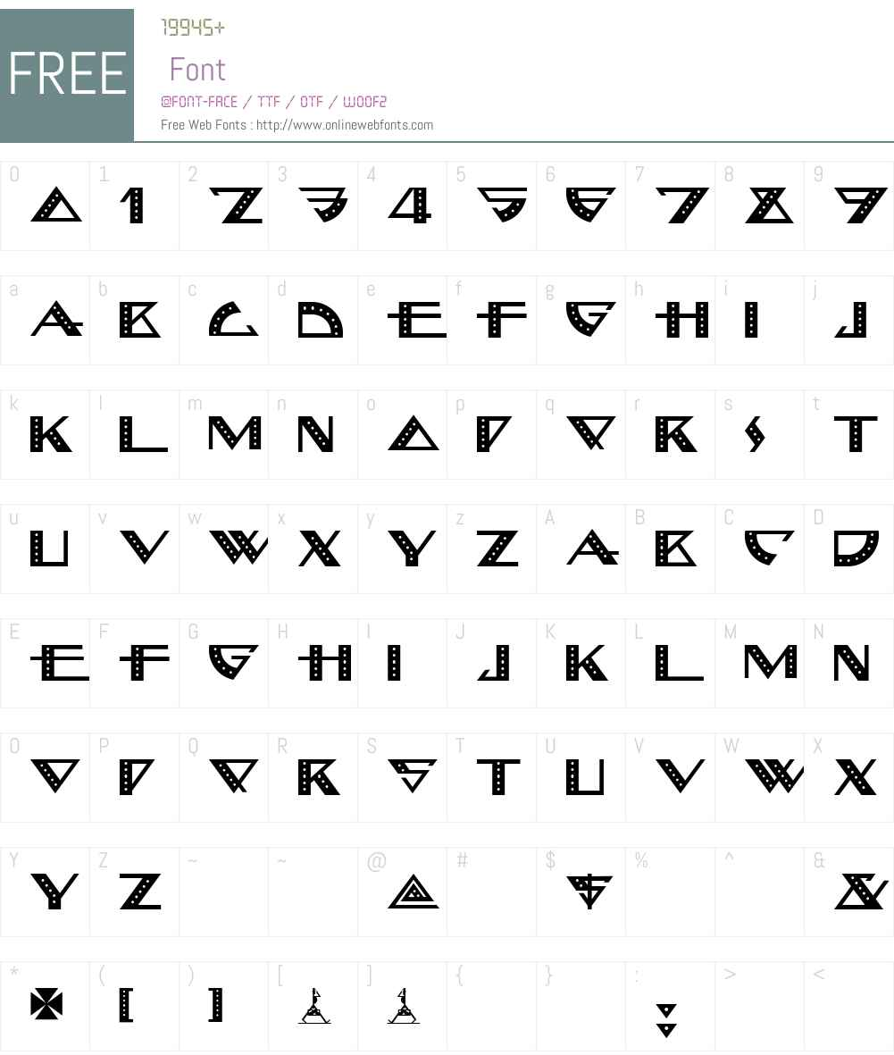 BellhopNF Font Screenshots