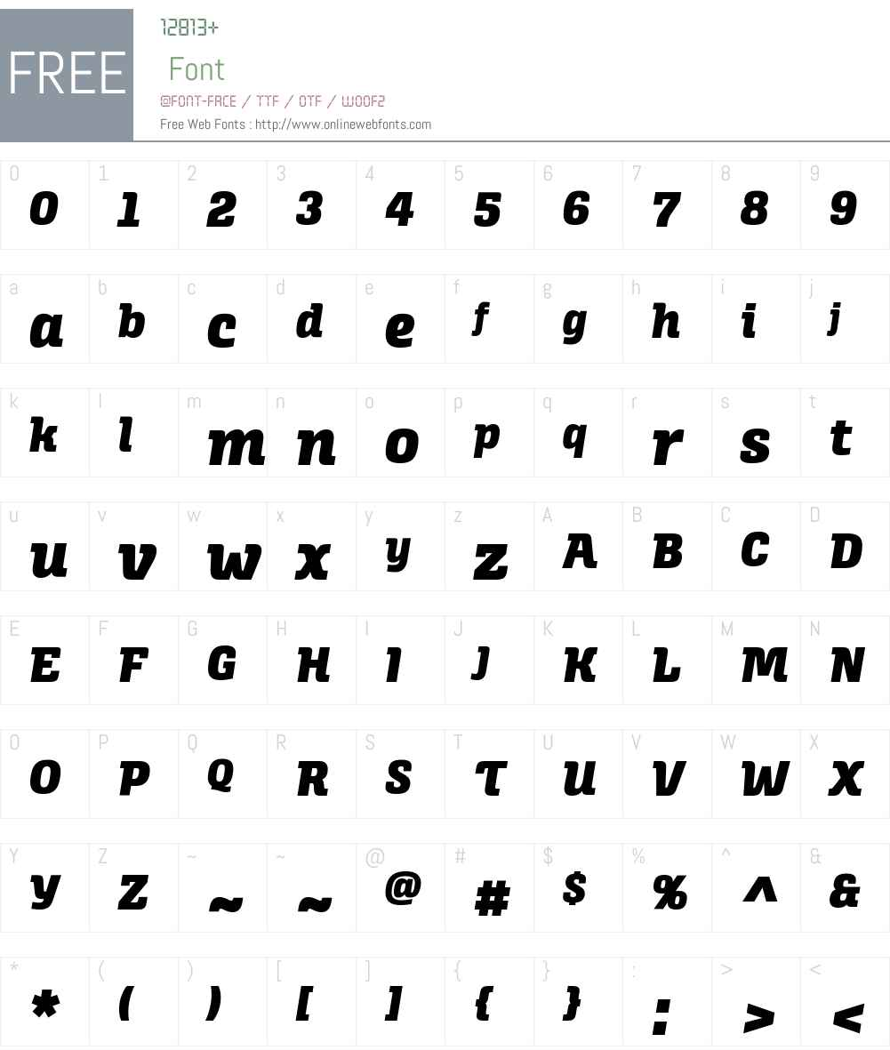 Alianza Italic 900 Font Screenshots