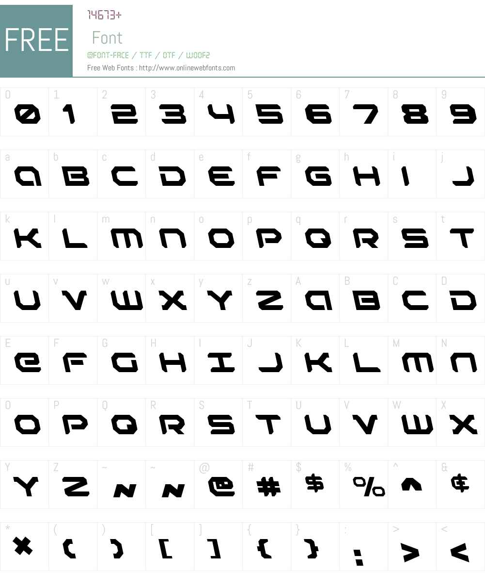 Robotaur Leftalic Font Screenshots