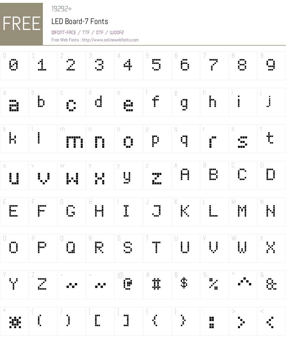 LED Board-7 Font Screenshots