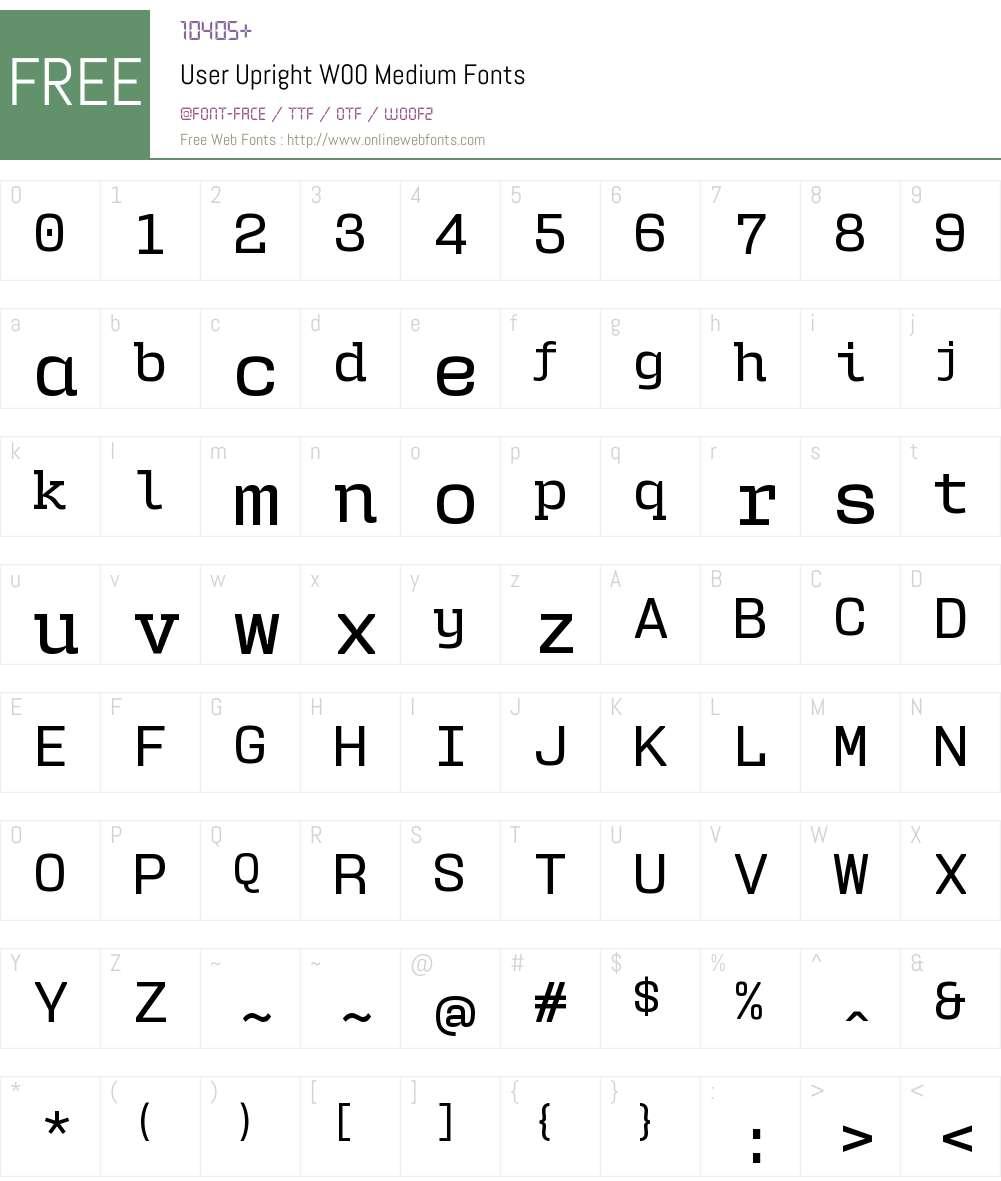 UserUprightW00-Medium Font Screenshots