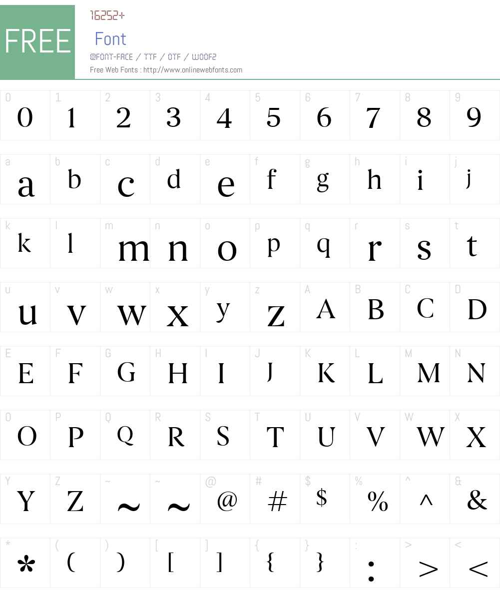 Begum-Regular Font Screenshots