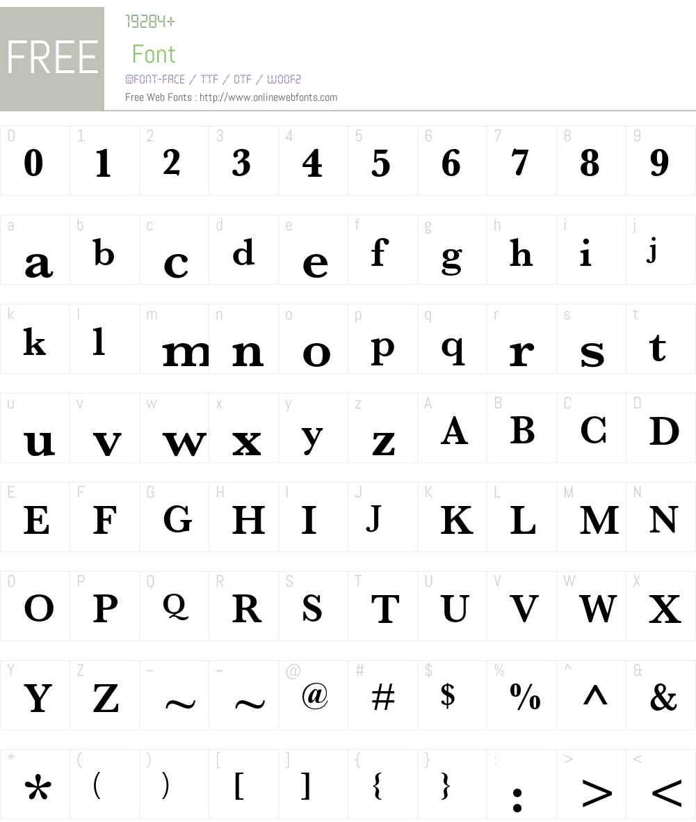 MSungHK Font Screenshots