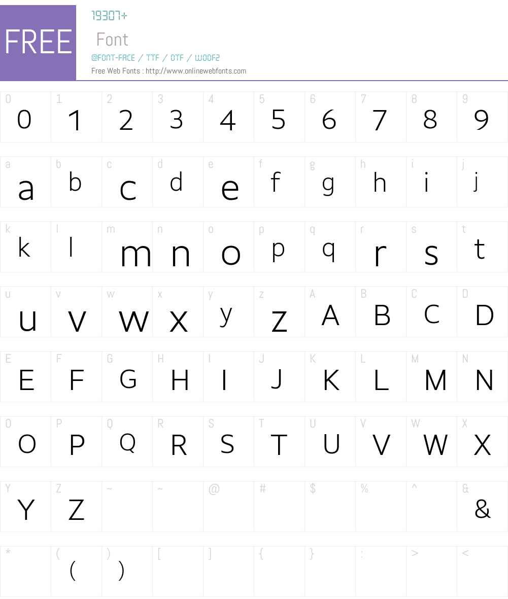 GemeliWeb Light Font Screenshots