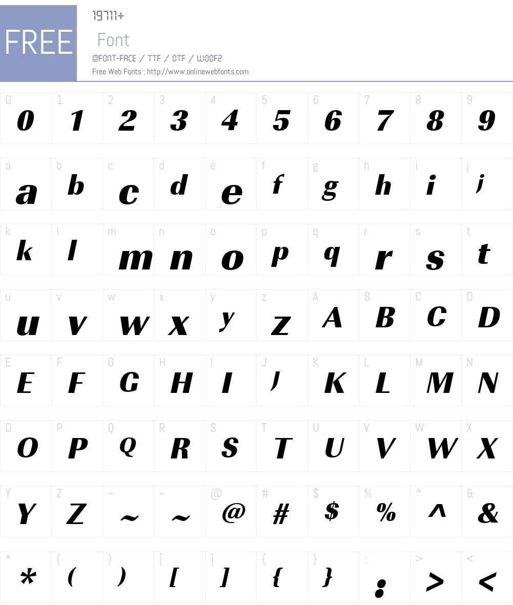 URWImperialTUltBolNar Font Screenshots