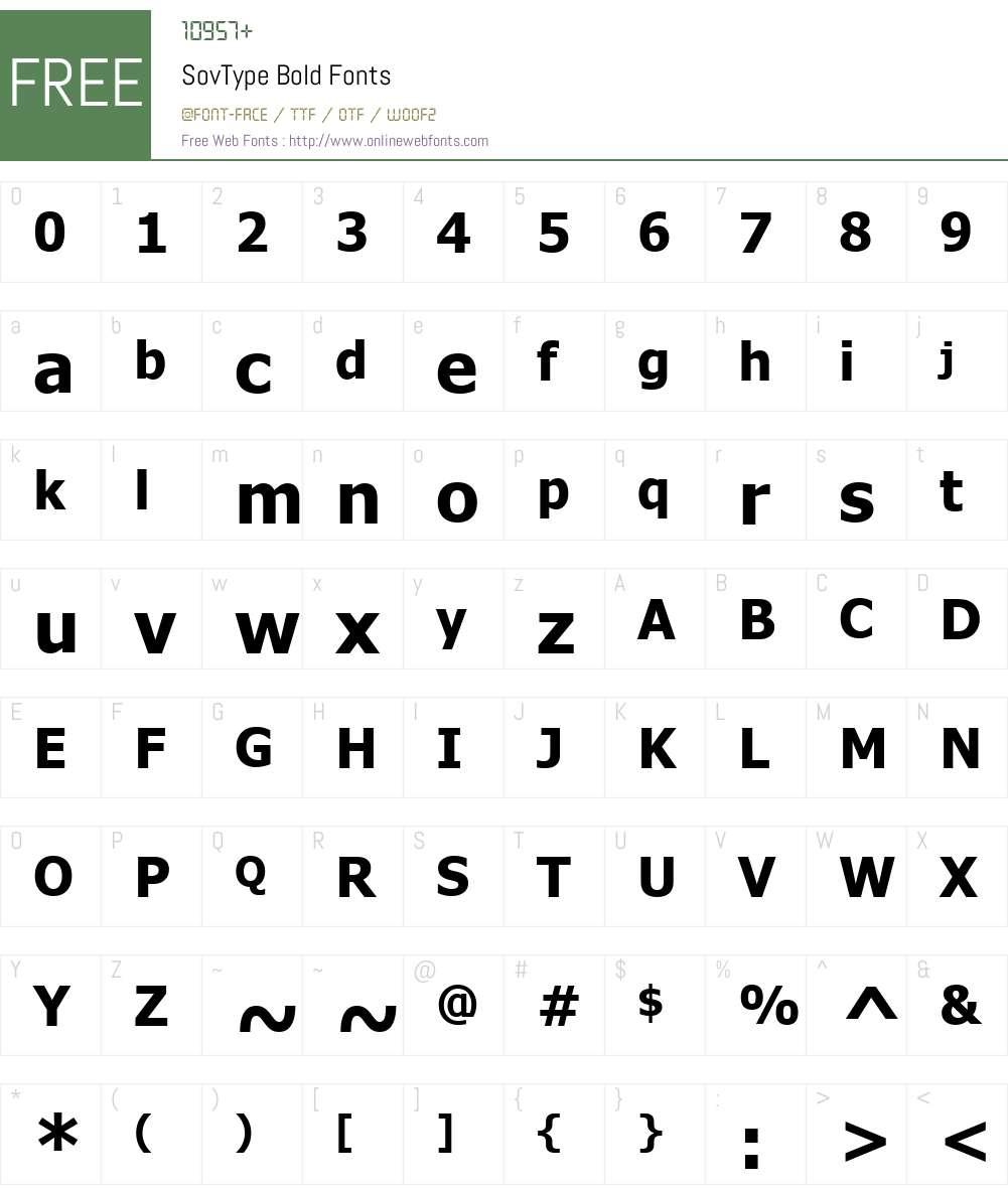 SovType Font Screenshots