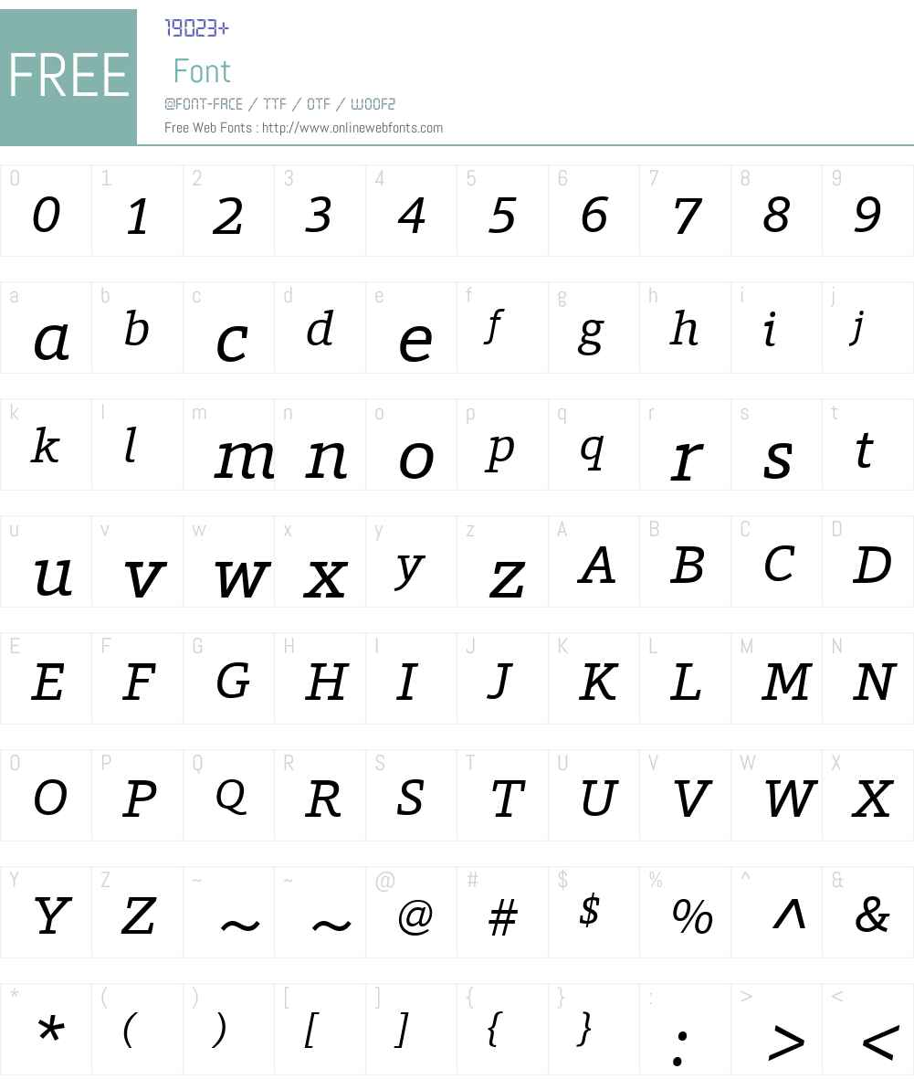 ForoW01-Italic Font Screenshots