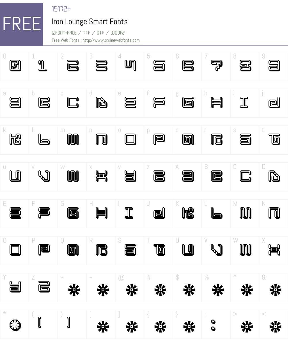 Iron Lounge Smart Font Screenshots