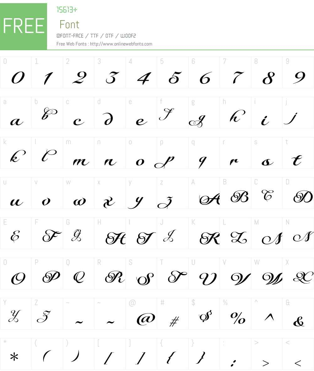 Serofina Font Screenshots