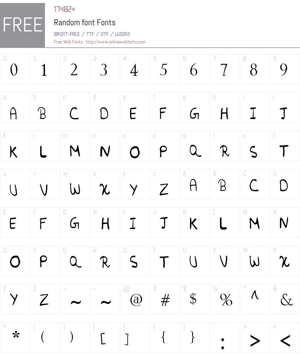 Random font Font Screenshots