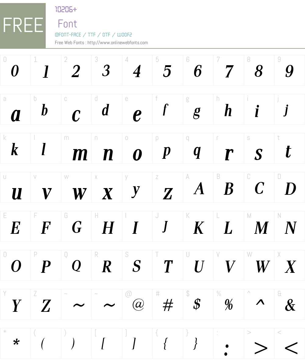 PaxW00-BoldItalicCondensed Font Screenshots