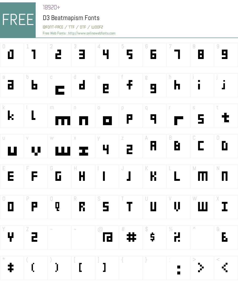 D3 Beatmapism Font Screenshots