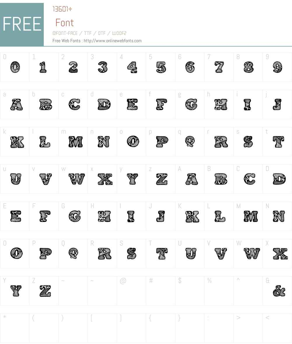 PatchworkAlphabet Font Screenshots