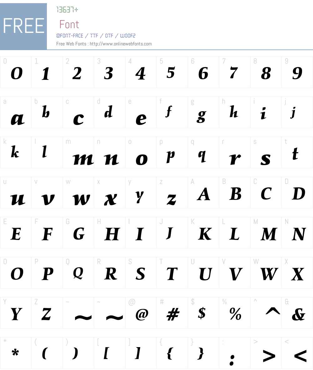 ITC Kallos LT Std Font Screenshots