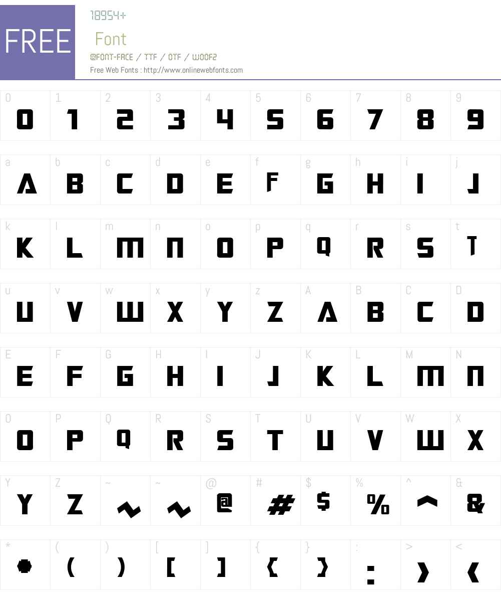 Transformers Font Screenshots