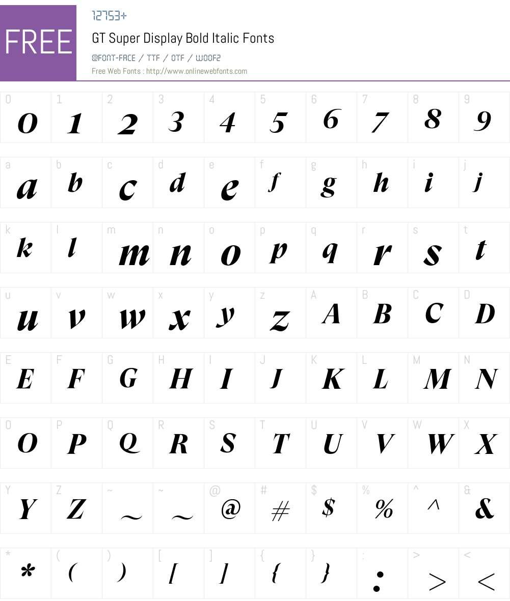 GT Super Display Bold Font Screenshots