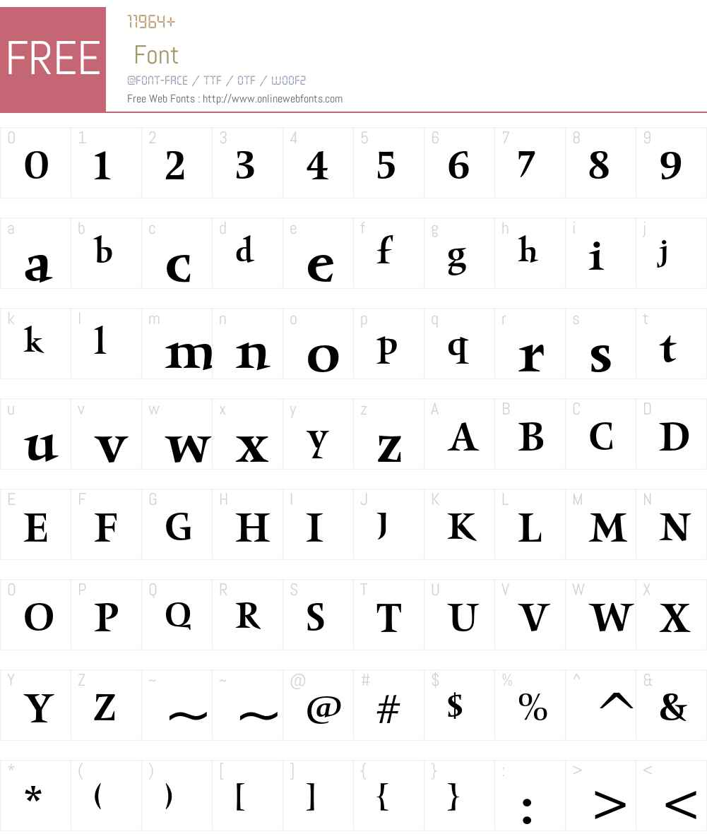 Obelisk ITC Std Font Screenshots