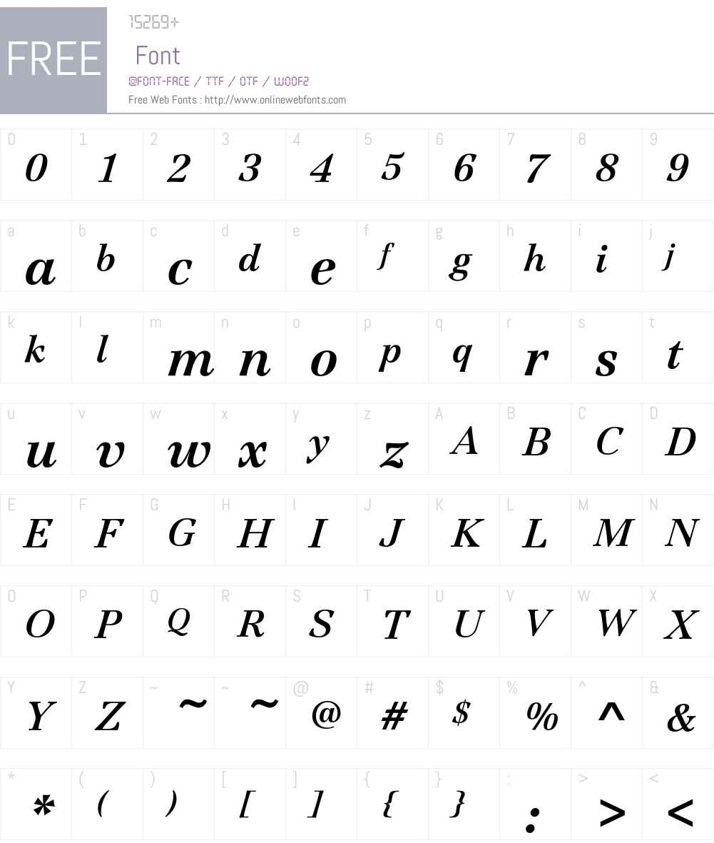 JamilleEF-BoldItalic Font Screenshots