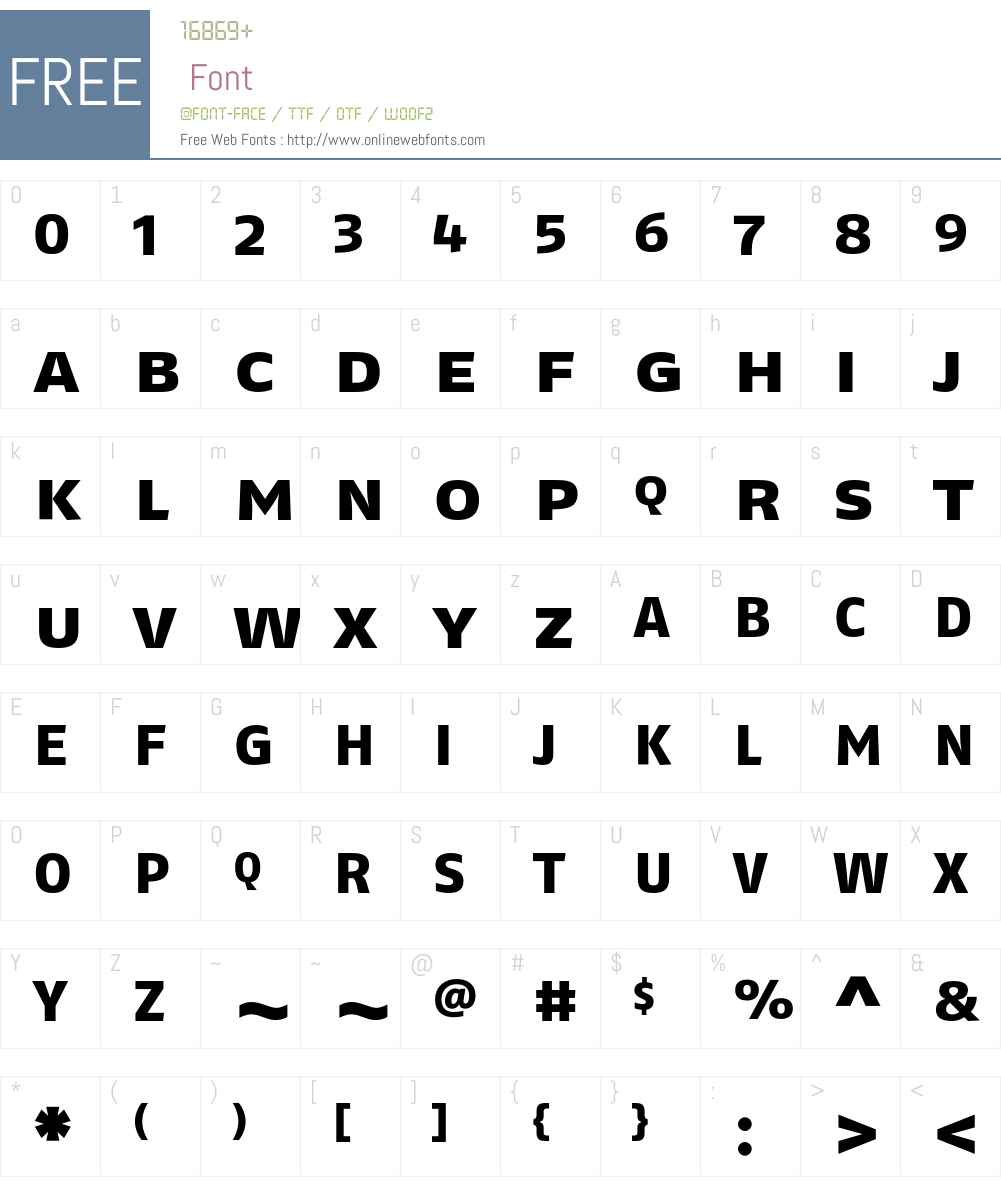 FagoExLf Font Screenshots