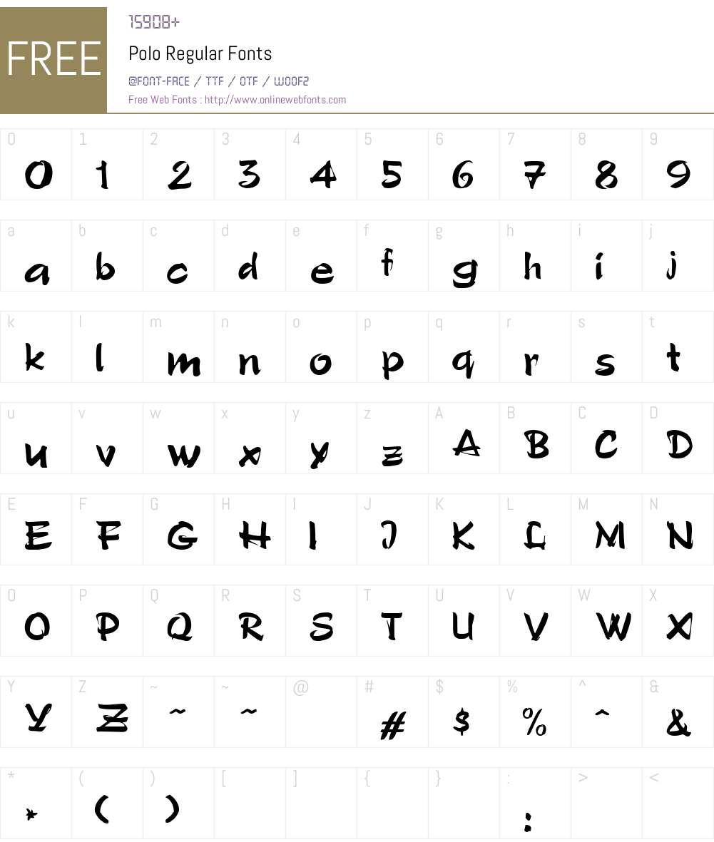 Polo Font Screenshots