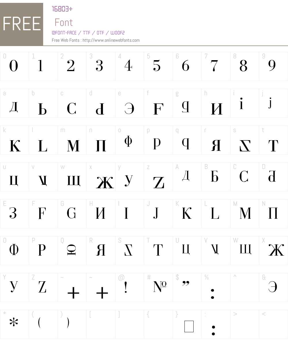 Cyberia Font Screenshots