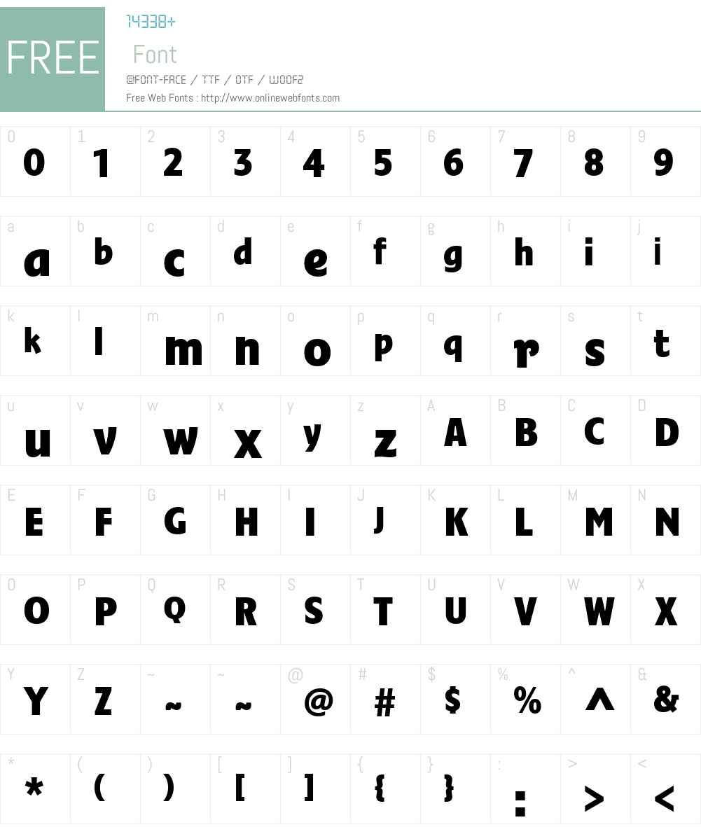 FairwayW00-Bold Font Screenshots