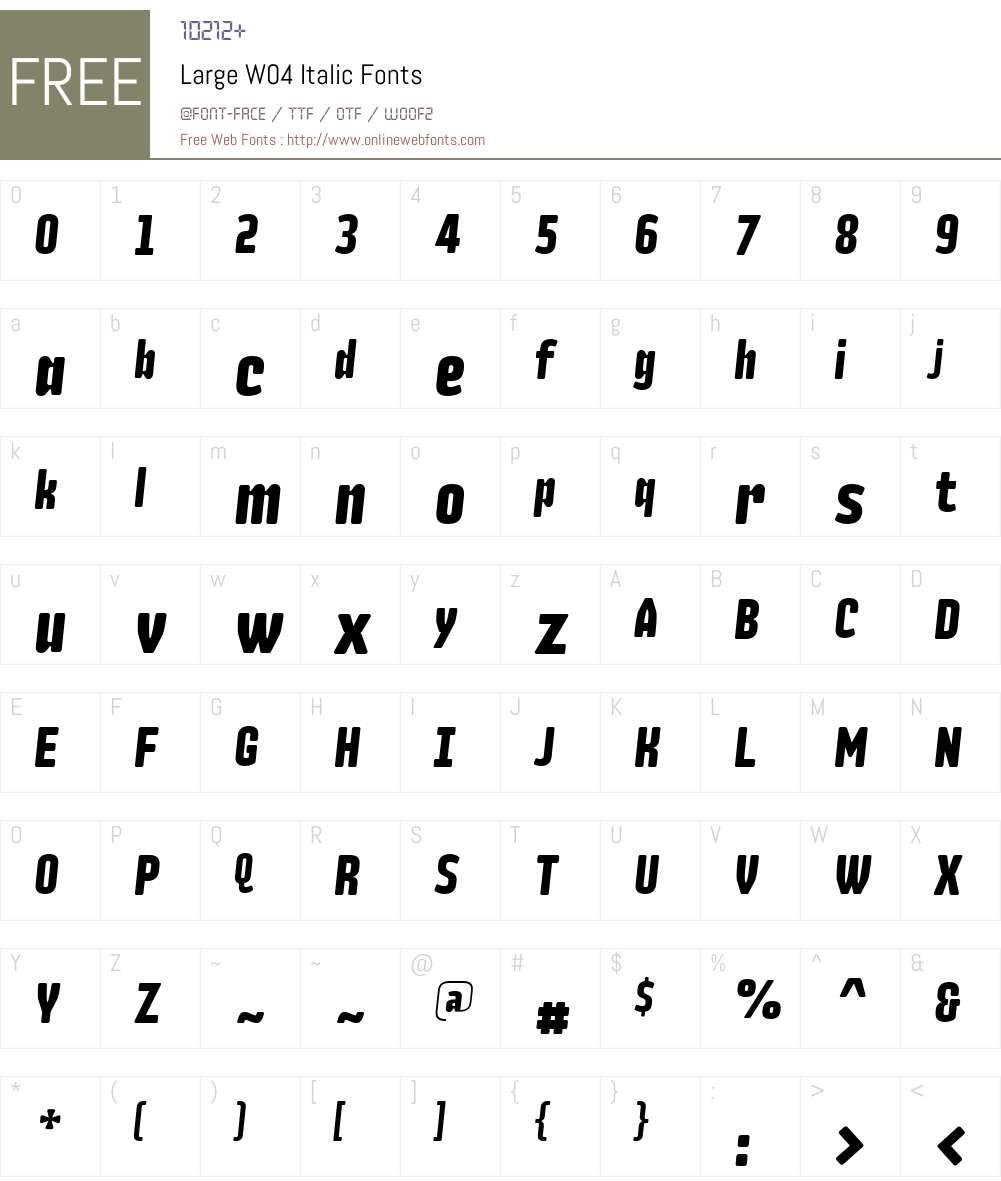 Large Font Screenshots