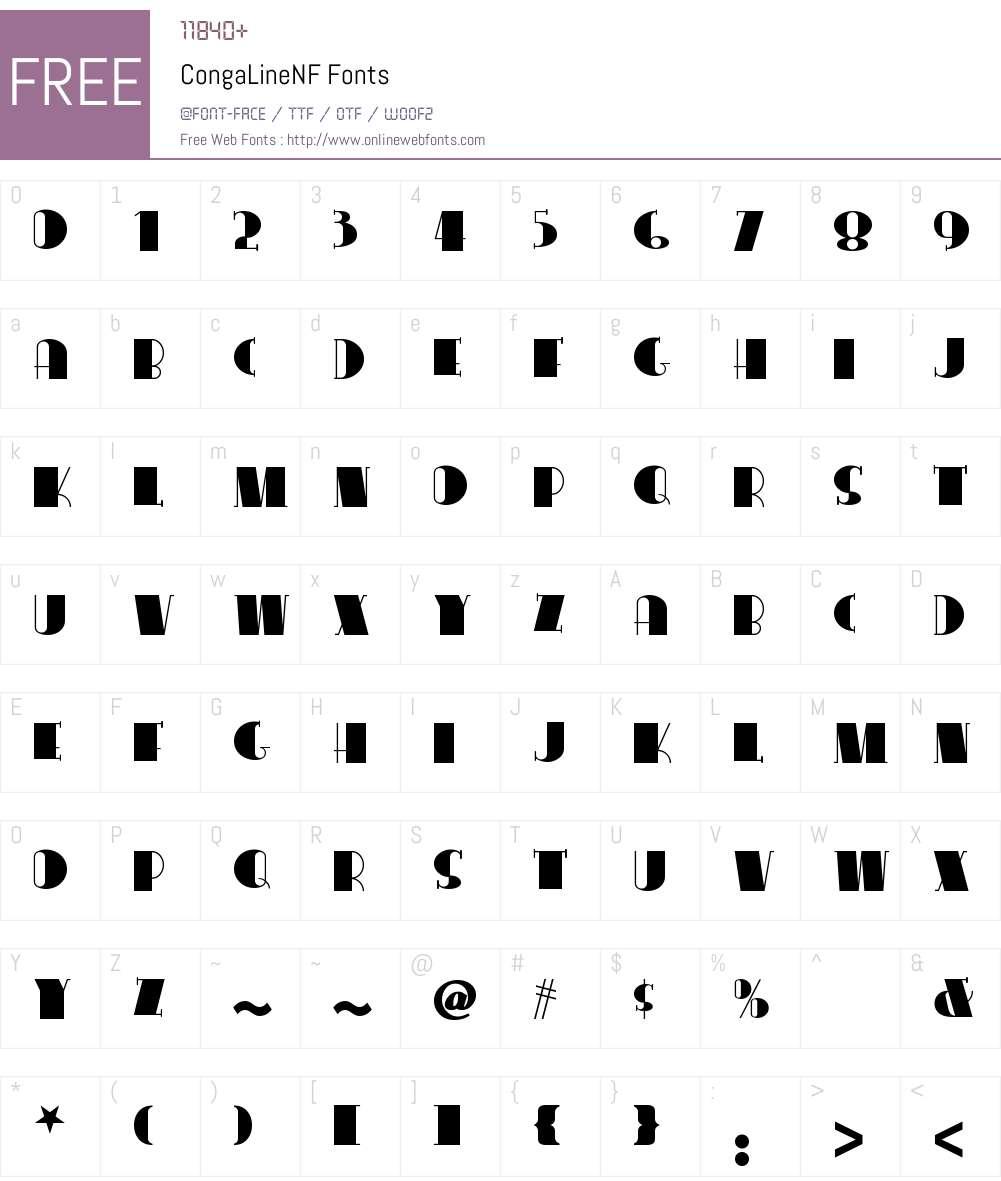 Conga Line NF Font Screenshots