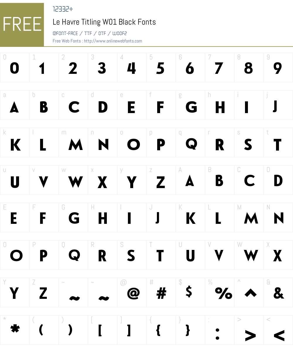 LeHavreTitlingW01-Black Font Screenshots