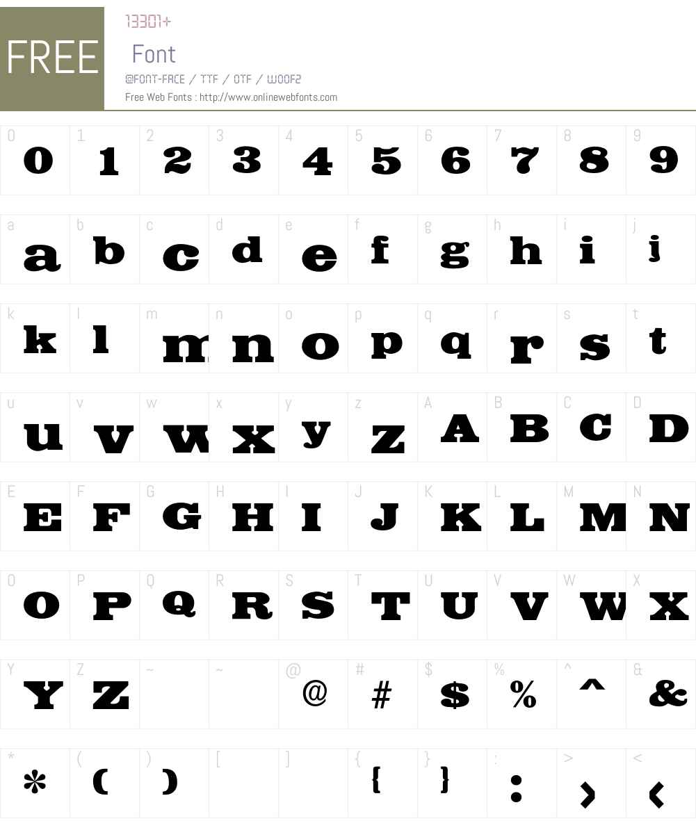 Iraklion Font Screenshots