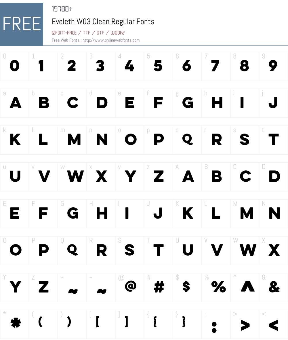 Eveleth Font Screenshots
