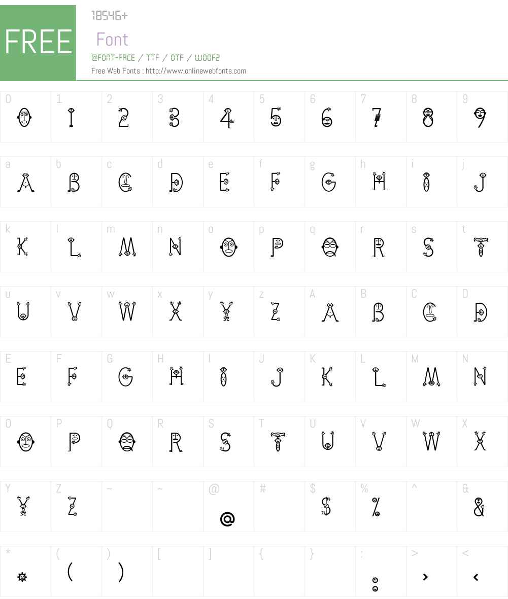 Cemi-Taino Font Screenshots