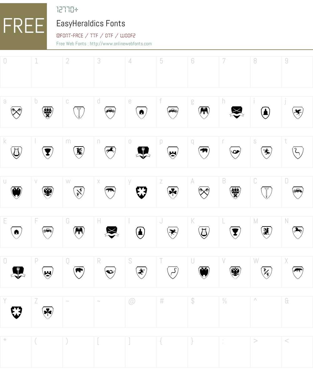 EasyHeraldics Font Screenshots
