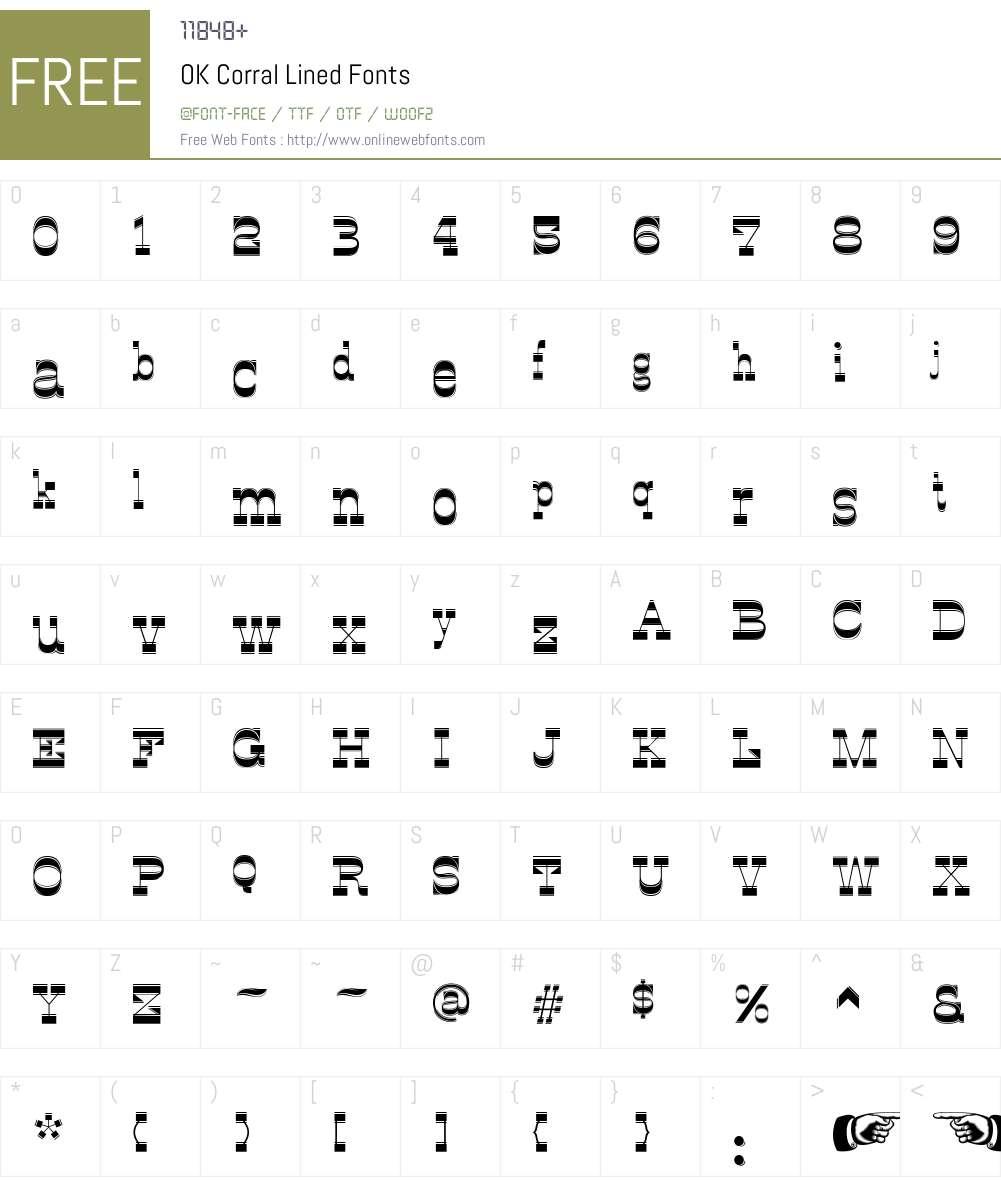 OK Corral Lined Font Screenshots