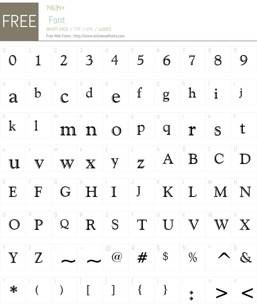 GoudyHandtooled BT Font Screenshots