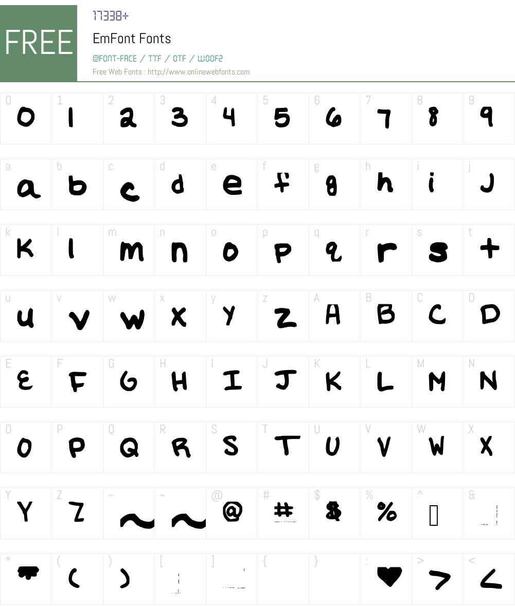 EmFont Font Screenshots