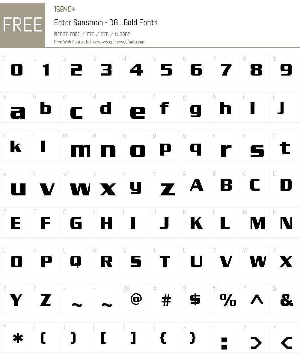 Enter Sansman 1. Font Screenshots