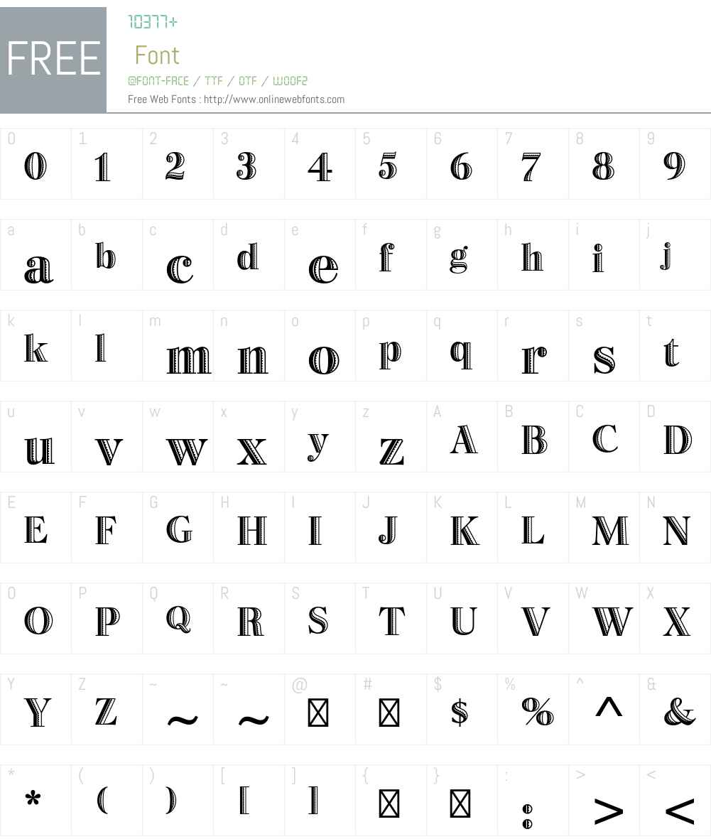 Bertie Std Font Screenshots