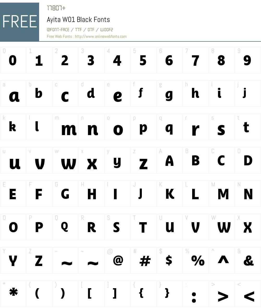 AyitaW01-Black Font Screenshots