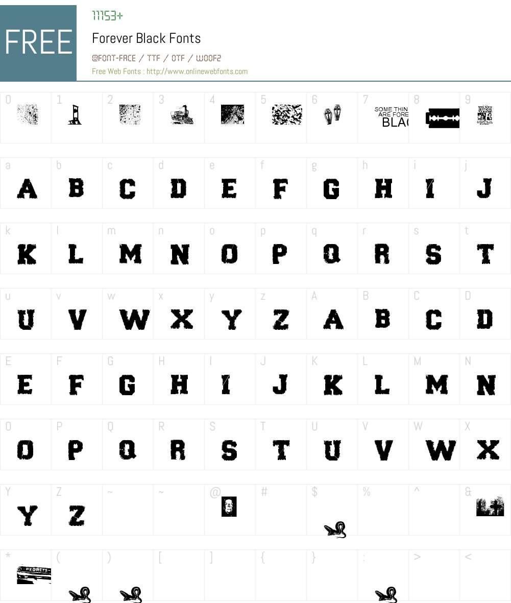 Forever Black Font Screenshots