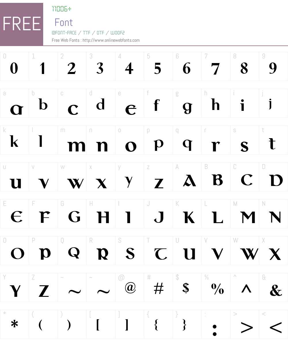 ColmcilleMTW01-Bold Font Screenshots