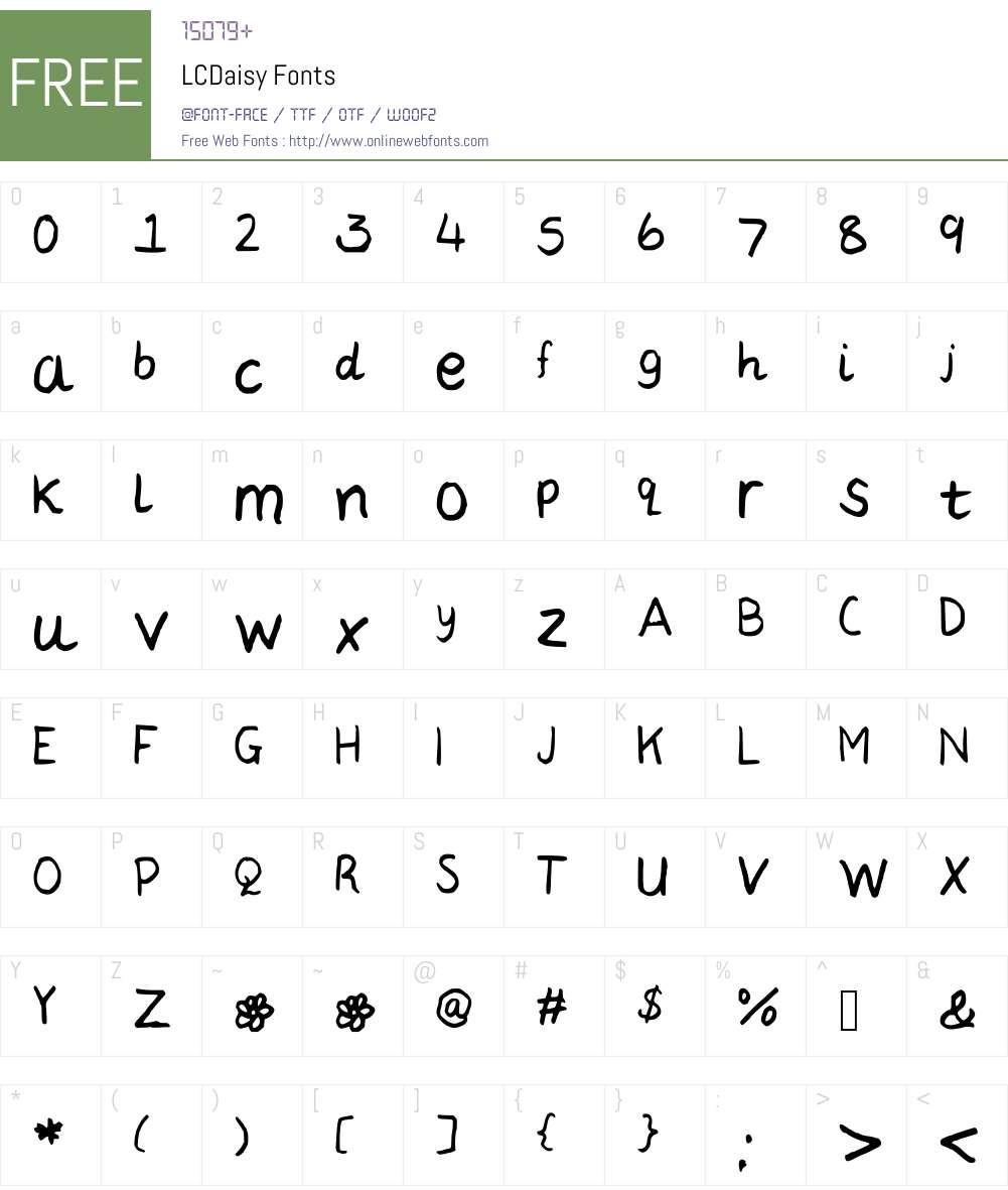 LCDaisy Font Screenshots