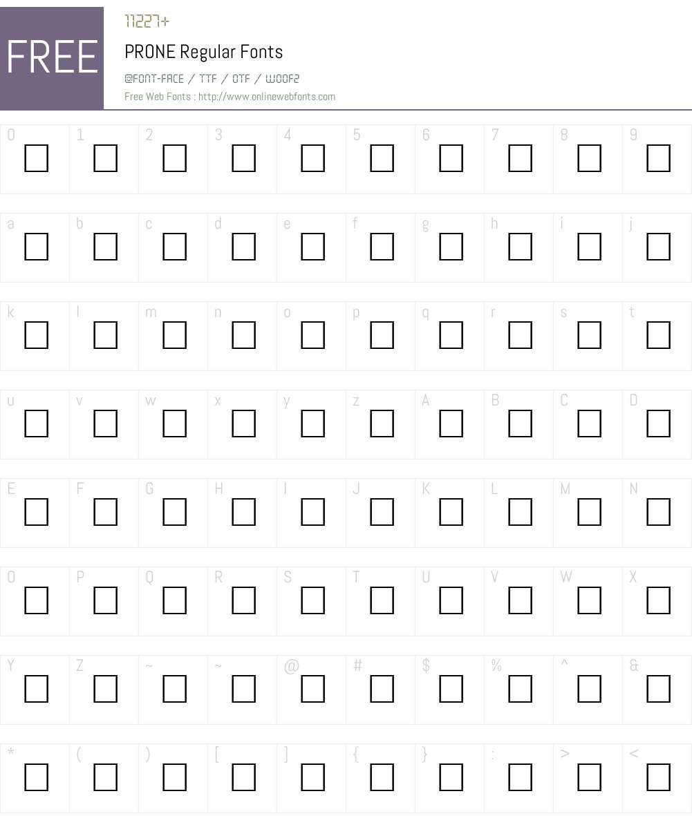 PRONE Font Screenshots