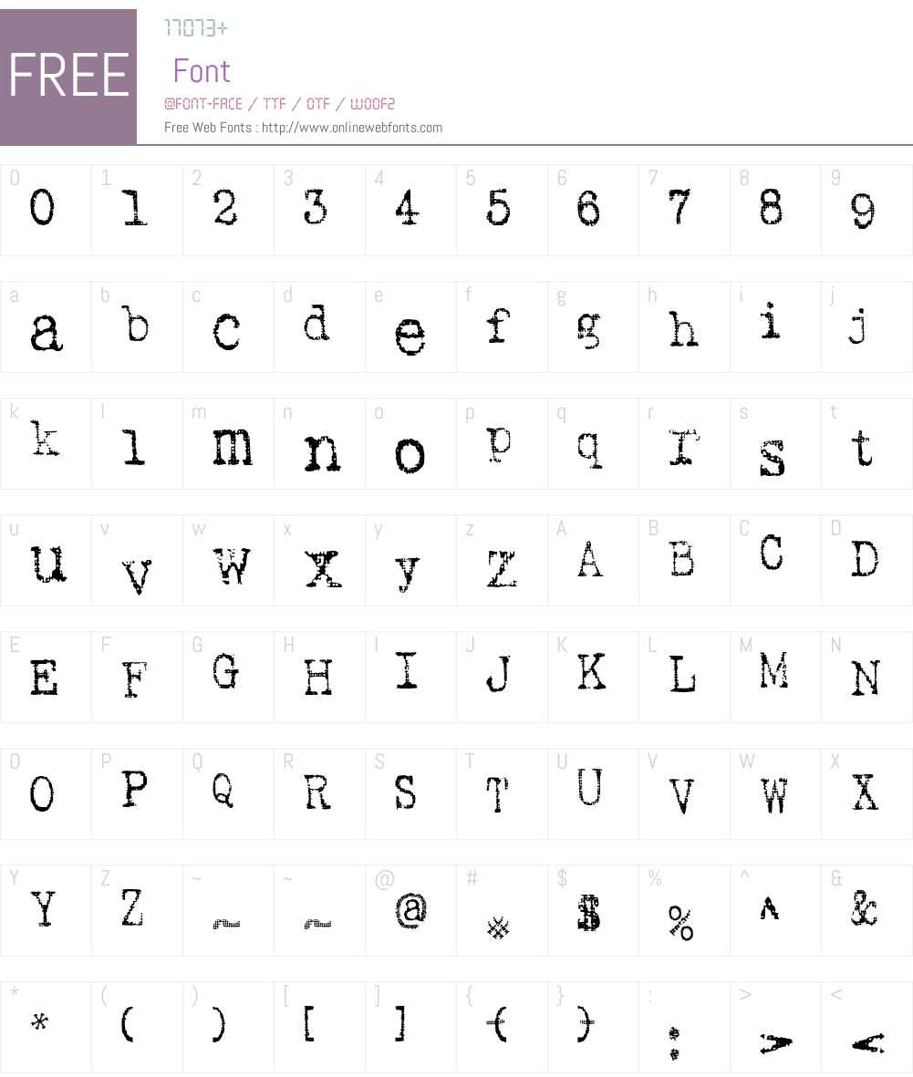 SA Inkspot Font Screenshots