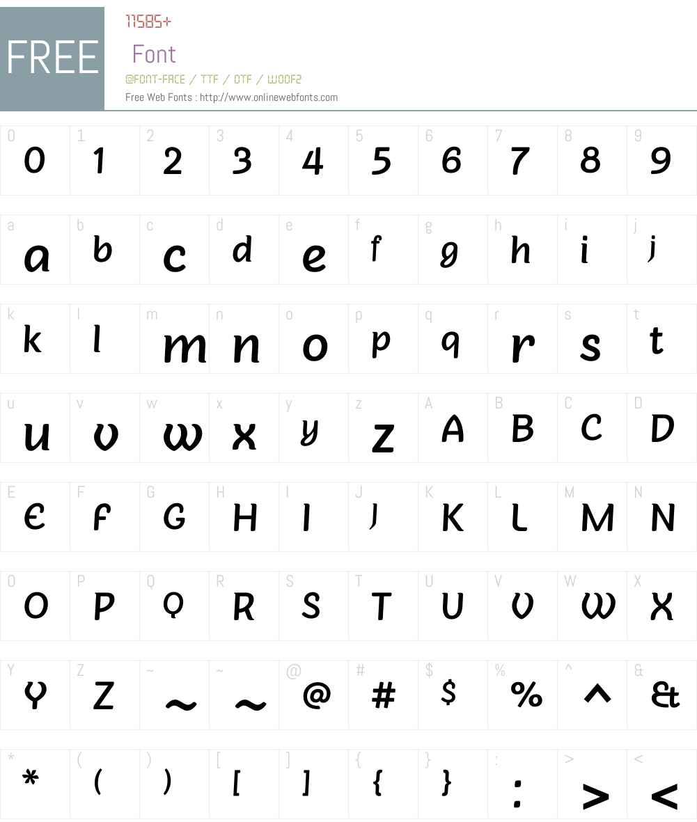 Sovba Medium Font Screenshots
