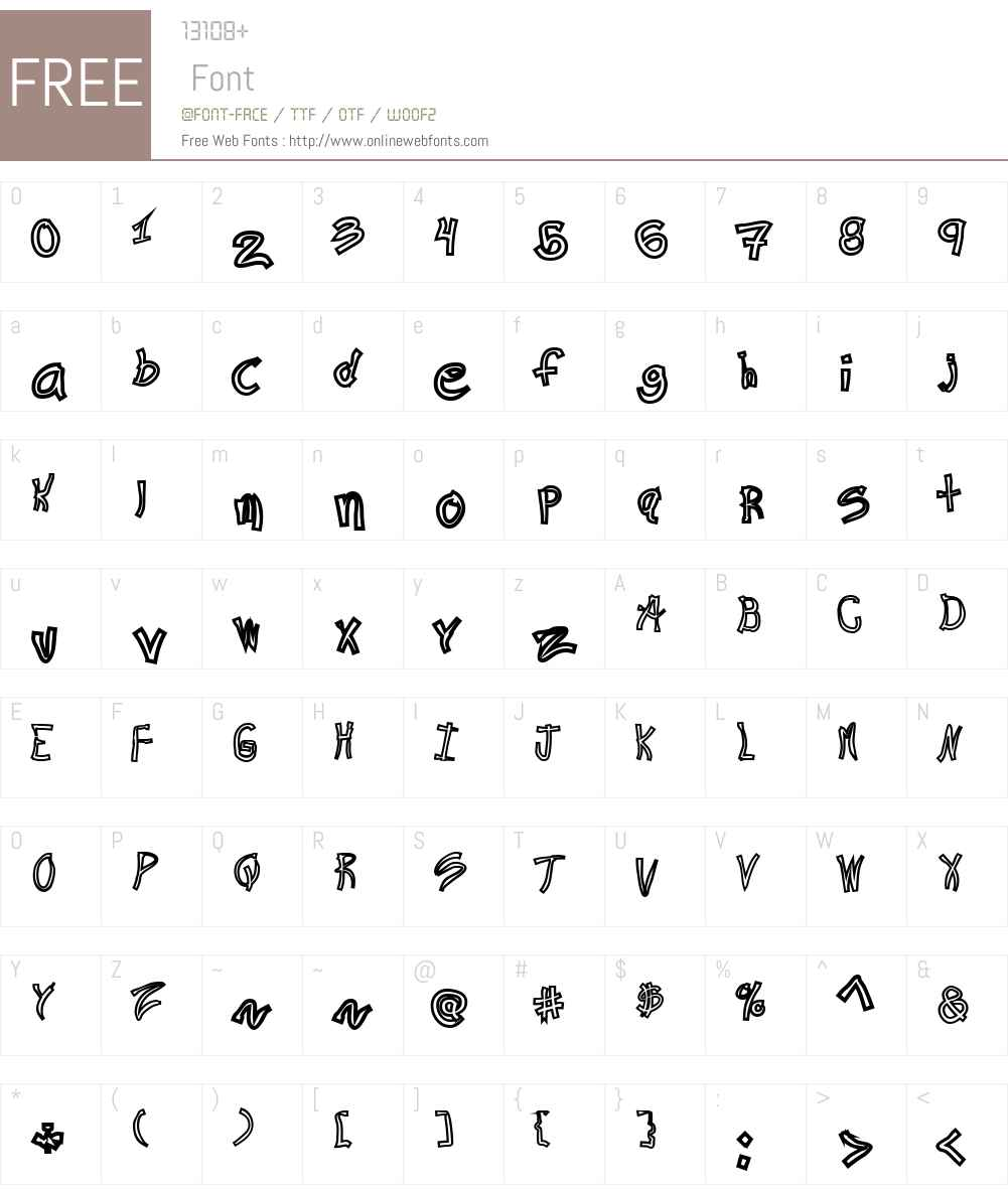 Ra's Hand Hollow Font Screenshots